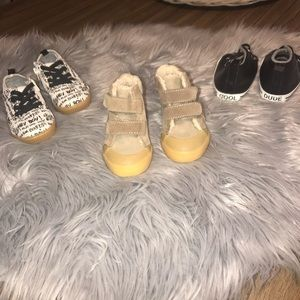 3 pairs of Infant Shoes - 9-12 Months